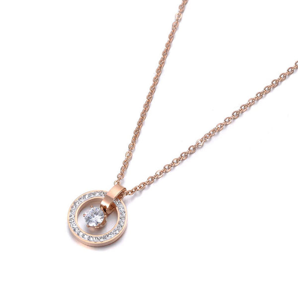 Collier Or Rose Rond