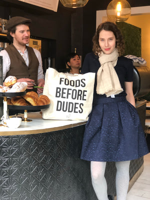 'Foods before dudes' Organic Cotton Tote Bag