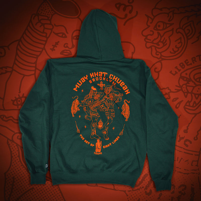 8 Limbs Hoodie Jungle Emerald