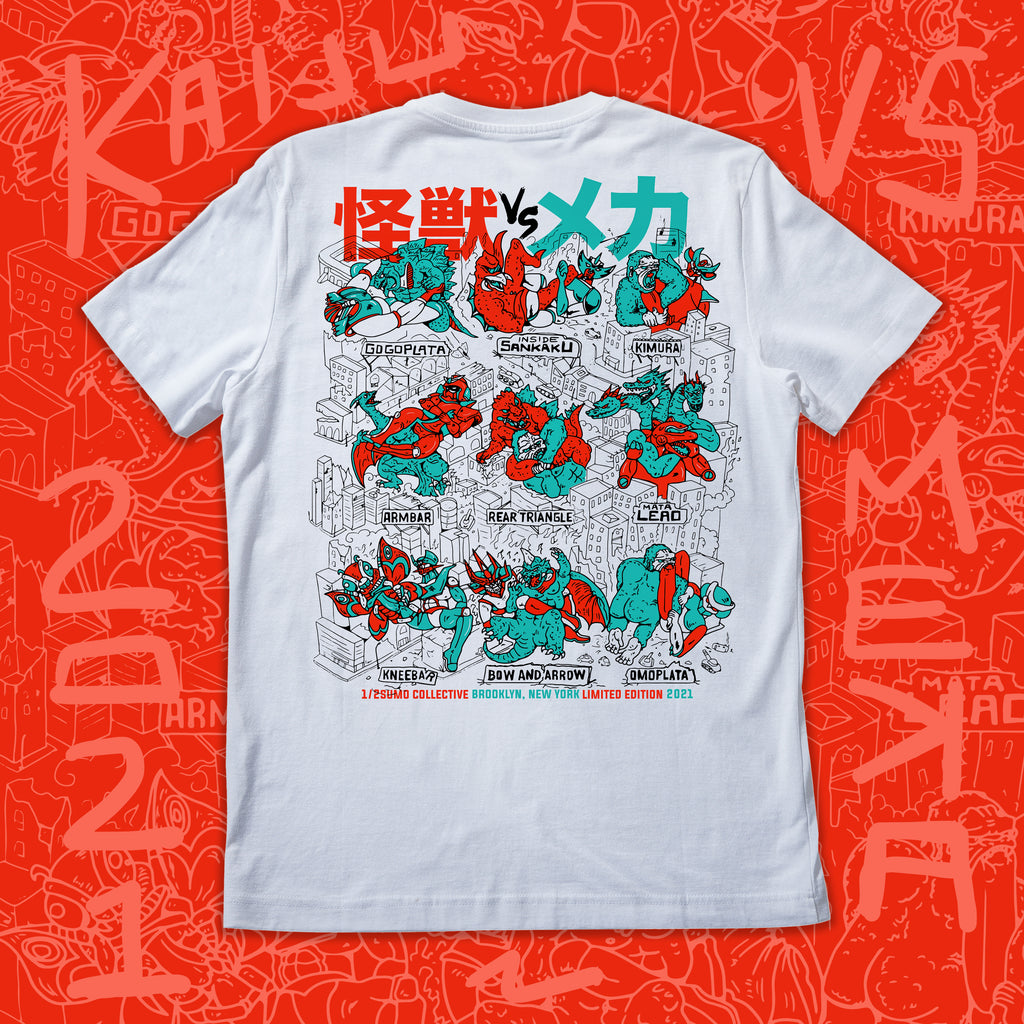 Kaiju vs Mekka T-shirt White