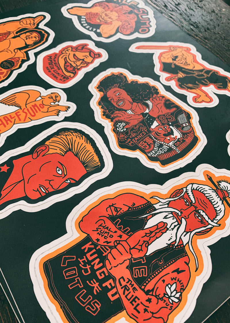 Heroes vs Villains Sticker Set