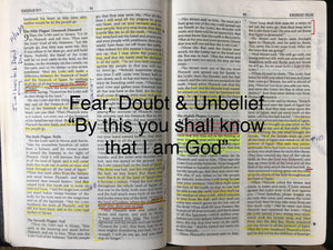 "Fear, Doubt & Unbelief; ""By this you shall know"""