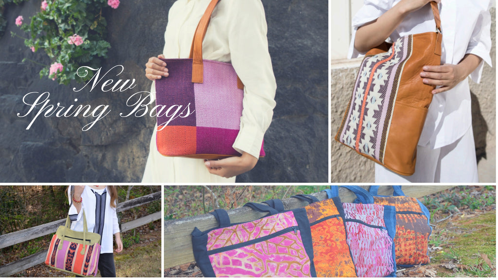 spring look book fair trade bags and purses