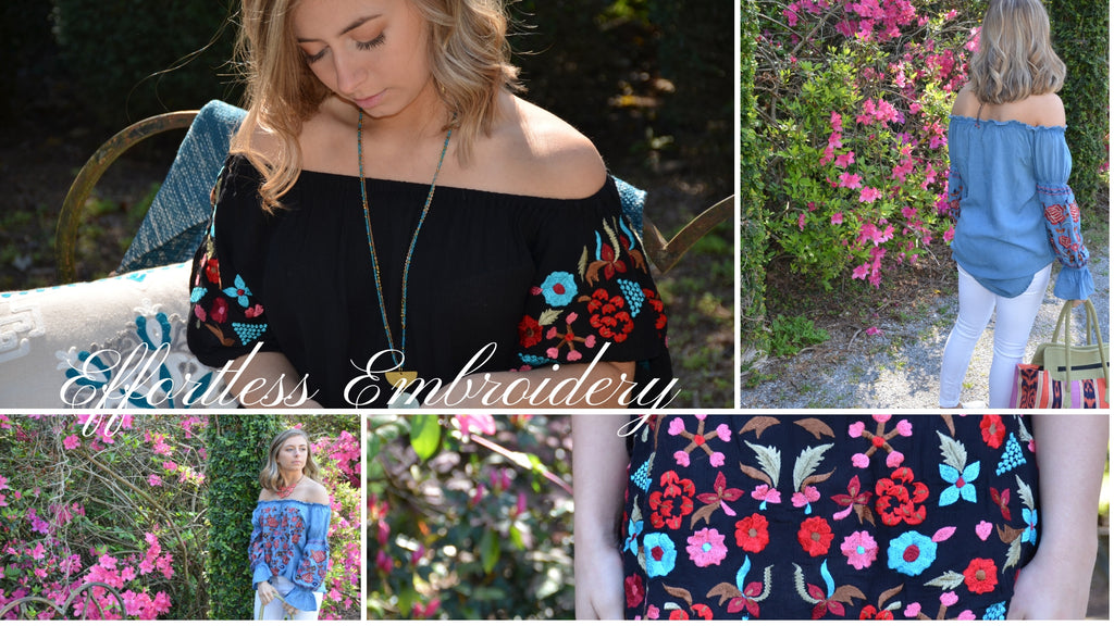 spring embroidered tops collection