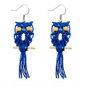 Handmade Macrame Owl Earrings