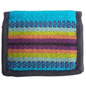 Teal Striped Wallet