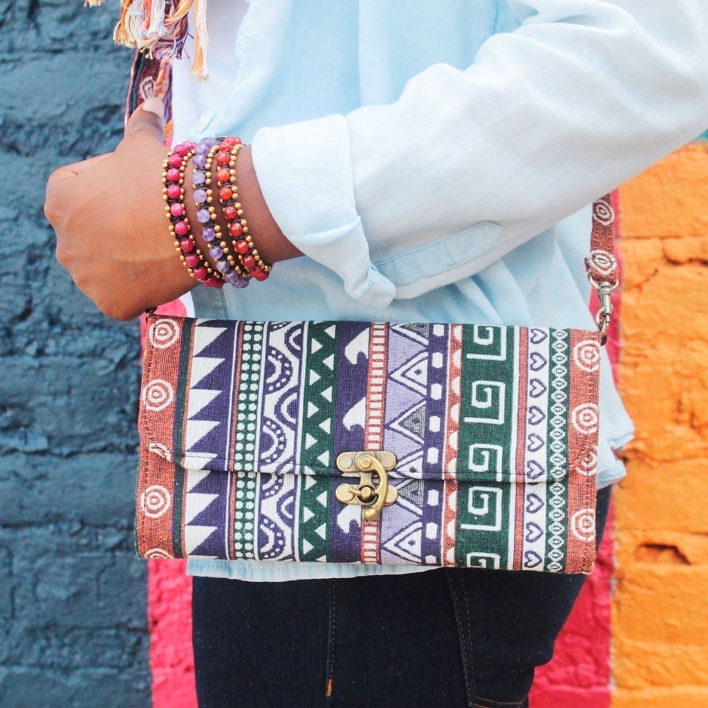 Tapestry Cross-body Purse