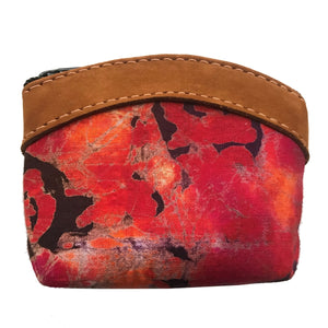 Batik Leather Coin Purse