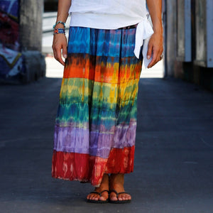 Tie Dye Layered Skirt