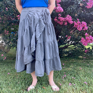 Gauzy Black Ruffle Skirt