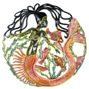 24 inch Painted Mermaid & Fish - Caribbean Craft