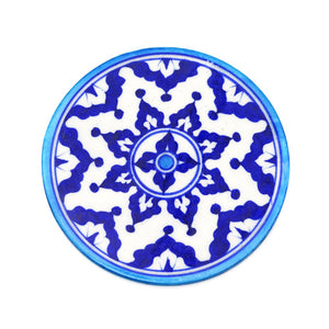 handmade blue and white trivet
