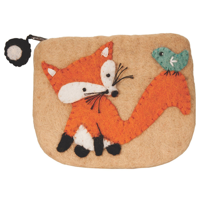 Handmade Felt Fox Coin Purse