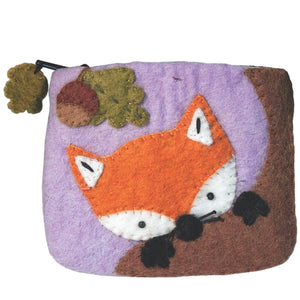 Handmade Felt Baby Fox Coin Purse