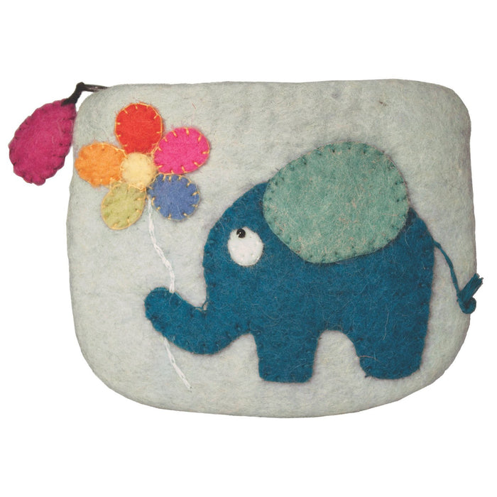 Handmade Felt Elephant Coin Purse