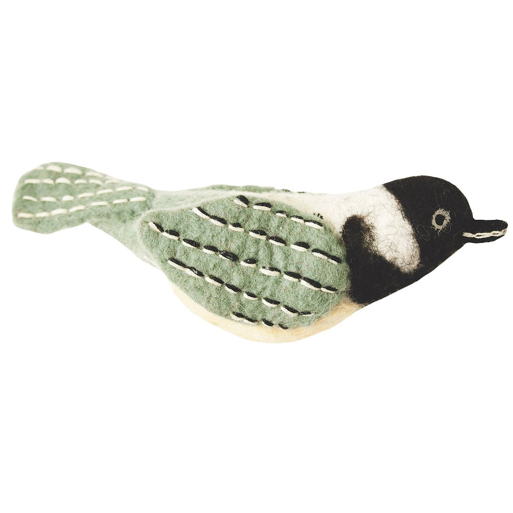 Felt Bird Garden Ornament - Chickadee Handmade and Fair Trade