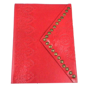 Handmade Scarlet Nailhead Journal