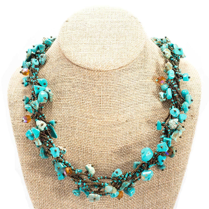 Handmade Chunky Stone Turquoise Necklace