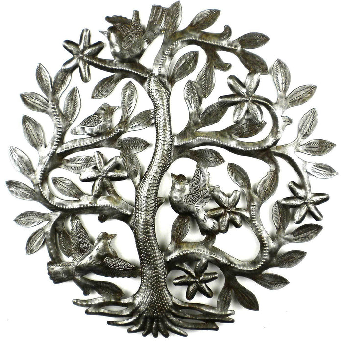 14 inch Tree of Life with Birds Wall Art - Croix des Bouquets