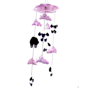 Handmade Counting Sheep Pink Mobile