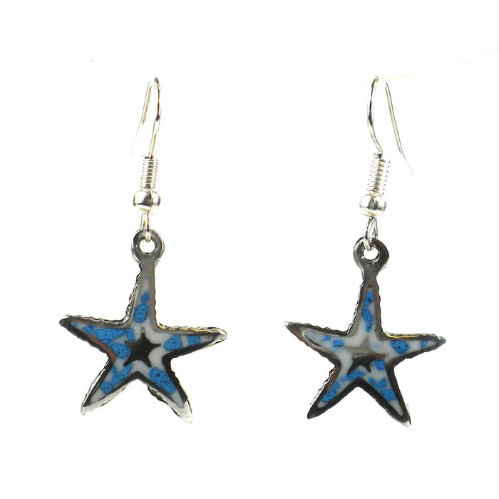 Handmade Inlaid Starfish Earrings