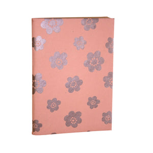 Recycled Peach Flower Soft Journal