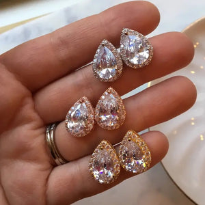 Crystal Czech Diamond Stud Earrings