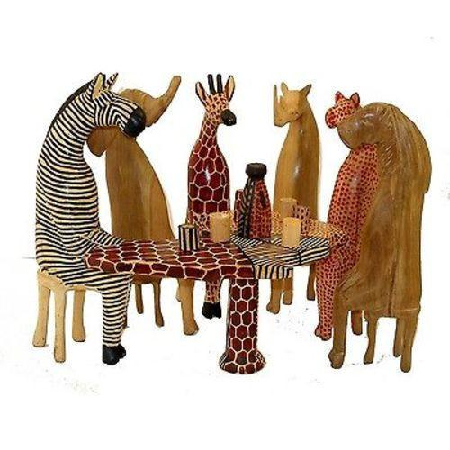 Party Animal Carved Wooden Set