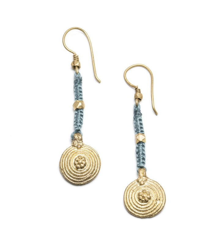 Orissa Aru Brass Earrings - Matr Boomie (Jewelry)