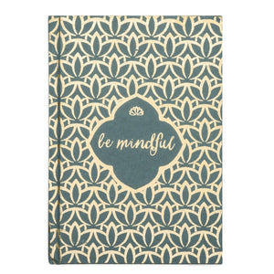 "Handmade ""Be Mindful"" Metallic Message Journal"
