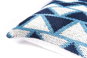 Indigo Woven Cotton Pillow