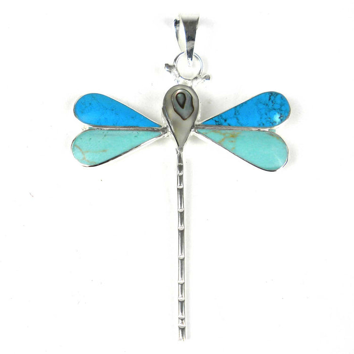 Handmade Turquoise Dragonfly Pendant