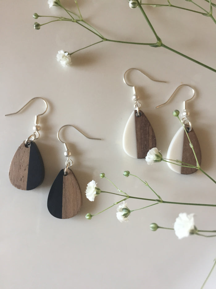 Half and Half Drop Earrings
