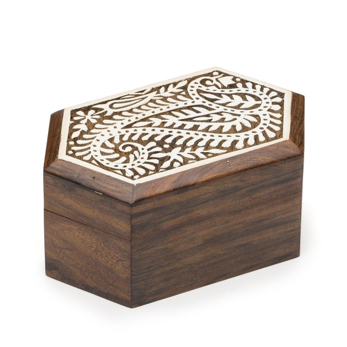 Carved Rosewood Aashiyana Paisley Wood Box