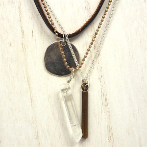 Fair Trade Boho Medallion Necklace