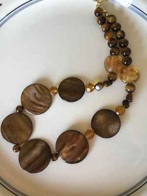 Tigers Eye Stone Bib Necklace