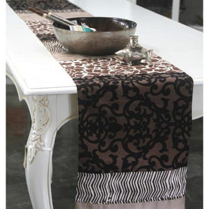 long neutral table runner