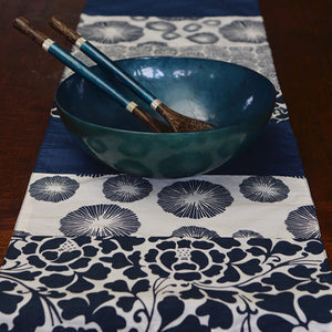 long Indigo table runner