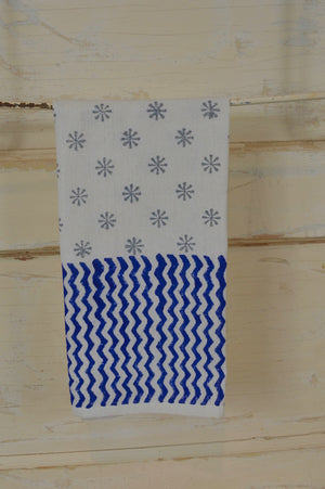 Hand Stamped Dish Towel from India