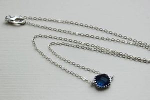 Dainty Sapphire Blue Necklace