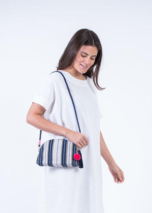Handloomed Half Moon Crossbody Bag