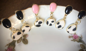 Animal Printed Fur Stud Earrings