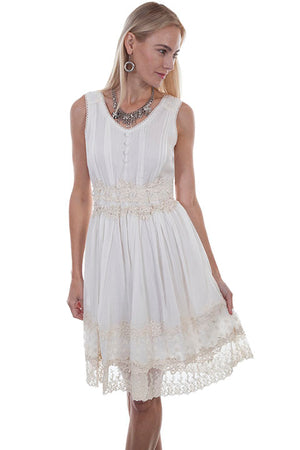 Double Laced Ivory Dress