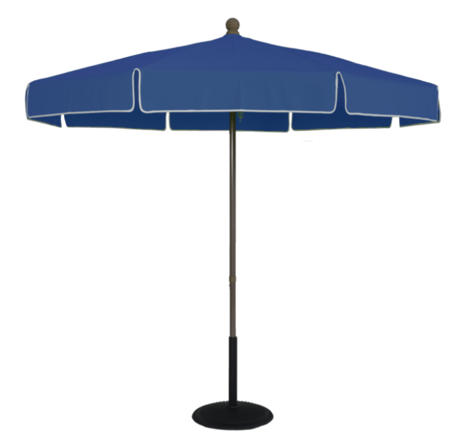 7.5 Ft Pop Up Standard Umbrella, Heavy Duty Fiberglass Ribs with 2mm Aluminum Center Pole, Outdura Solution Dyed Acrylic Performance Fabric