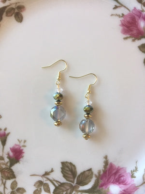 Handmade Glass Crystal Baroque Beaded Earrings