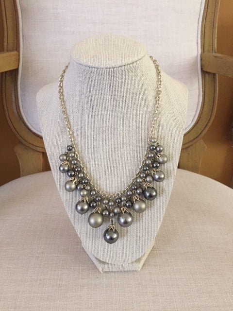 Silver and Gray Bobble Necklace