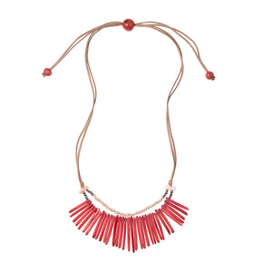 Tagua nut Coral necklace
