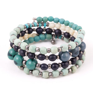 Handmade Fair Trade beaded wrap bracelet