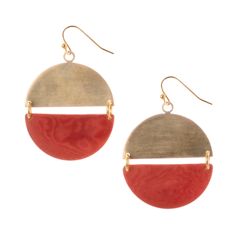 Handmade Tagua Nut Orleans Earrings