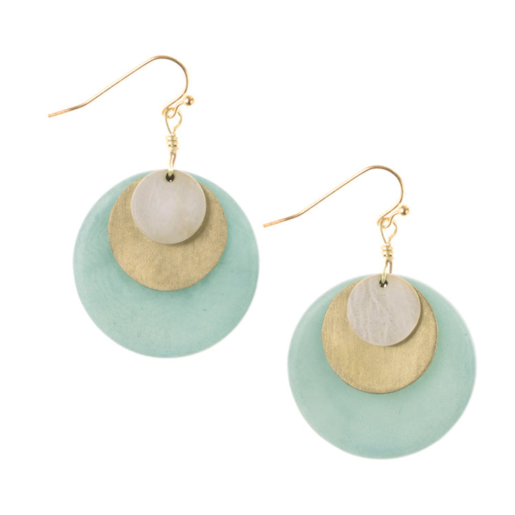 handmade Tagua nut Tribeca Earrings
